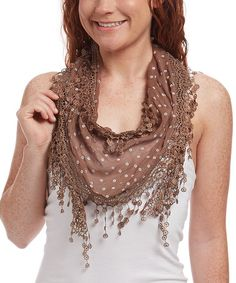 Look what I found on #zulily! Coffee Tassel Linen-Blend Scarf - Women #zulilyfinds
