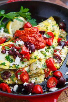 Mediterranean Omelette #protein #veggielove