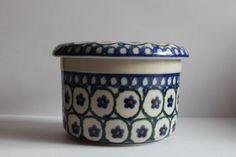 Boleslawiec Polmedia Polish Ceramic Pottery Butter Dish Kepper Jar   eBay