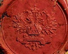 Freemasonry wax seal