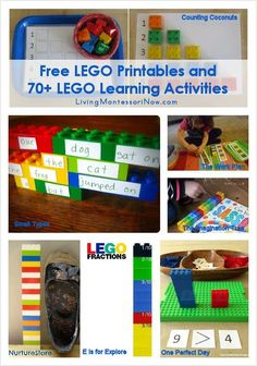 Roundup with LOTS of amazing LEGO learning activities and free LEGO printables found online; perfect for hands-on learning for classroom or home - Living Montessori Now Fun Learning, Preschool Activities, Educational Activities, Color Activities, Learning Tools, Family Activities, Wedo Lego, Lego Duplo, Lego Math