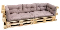 pohovka z palet prodej - Hledat Googlem Diy Sofa, Moderne Couch, Caribbean Decor, Pallet Projects, Space Saving, Dyi, Tiny House, Pergola, Sweet Home