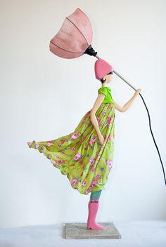 Rose Skitso Tischlampe Designleuchte Deko Dekofigur Lampe Figur m.Licht 85cm   eBay