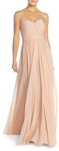 Jenny Yoo 'Mira' Convertible Strapless Pleat Chiffon Gown