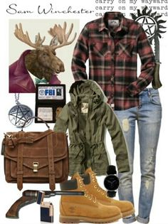 Image via We Heart It #outfit #samwinchester #supernatural