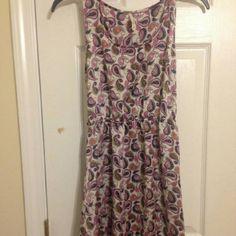 Designed Dress Purple, White, and Aqua Back Out Dress hello miss Dresses