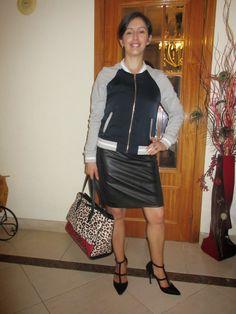 O meu Plano B: Look do dia: LBD and sporty jacket
