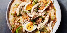 *Arroz Caldo* (Chicken Rice Porridge) recipe | Epicurious.com