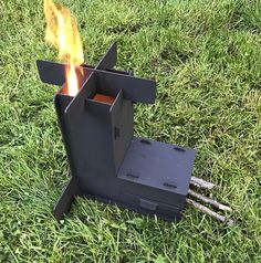 Thank you for looking at my collapsible rocket stove. PERFECT BIRTHDAY OR CHRISTMAS GIFT!!!! ***Breaks down to take very small amount of space.*** This rocket stove completely breaks down as shown in the picture. It can easily fit in a backpack. These stoves are amazing. You