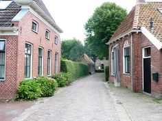 Village view (dorpsgezicht), Niehove, authentic historic terp village in Groningen, The Netherlands.