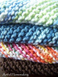 Artful Homemaking: Knitted Dishcloths