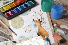 Friendly Fox. Forest Set. by KiraArtShop on @creativemarket