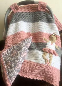 Crochet Car Seat Cover - Ballet Crochet Car, Manta Crochet, Crochet Bebe, Crochet Girls, Crochet Mermaid Tail Pattern, Crochet Beanie Pattern, Crochet Blanket Patterns, Baby Blanket Crochet, Baby Girl Patterns