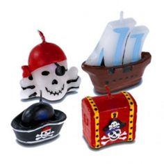 Piratenkerzen Tortendeko