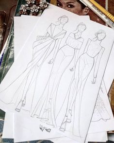 How to Draw a Fashionable Dress - Drawing On Demand Fashion Design Books, Fashion Design Sketchbook, Fashion Design Drawings, Fashion Sketches, Fashion Figure Drawing, Fashion Drawing Dresses, Fashion Illustration Dresses, Fashion Illustration Tutorial, Illustration Mode