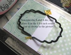 Crafters Corner : Flip-Card Tutorial using partial die-cutting! Best tut ever - step by step photos and written instructions with big bold, colored print for the most important steps!