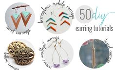 50 DIY earrings that range from crazy easy to moderately challenging. There's something for every crafter!