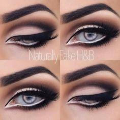 White eyeliner on the inside works well