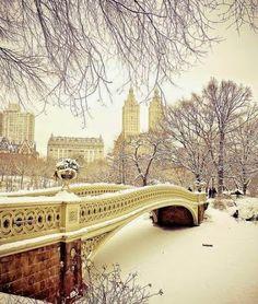 Central Park sous la neige, New York