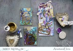 My dt work for Mixed Media & Art September moodboard. More photos and info about materials here: https://anastasiaelenadesign.blogspot.ru/2017/09/universe.html