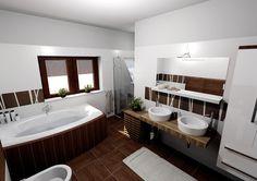 Combi grafický návrh Amazing Bathrooms, Home Fashion, Corner Bathtub, Cool Stuff, House Styles, Decor, Cool Things, Decorating, Corner Tub