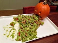 How To Serve Guacamole On Halloween - Amateur Gourmet - Interesting idea but I am positive that I myself couldn't eat it.