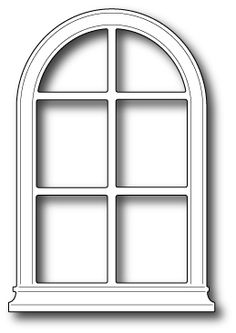 Picket fence pattern use the printable outline for crafts for Window design template