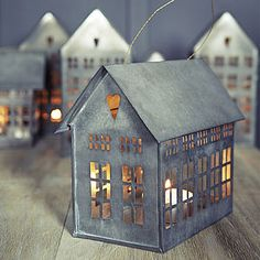 Mini City Candle House - view all decorations