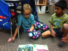 "Variation on partner reading: One child reads their page while the other child listens. After that child is done reading, the listener turns on the 'light bulb' and tells what they heard the reader read. (""Light bulb"" is LED light. Reading Lessons, Reading Resources, Reading Strategies, Reading Activities, Reading Comprehension, Partner Reading, Kids Reading, Teaching Reading"