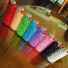 pretty lighters  | repinned by www.drukwerkdeal.nl