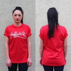 The Signature Tee (Red)    #style #fashion #muffinmilk #streetwear #NYC #red #tee