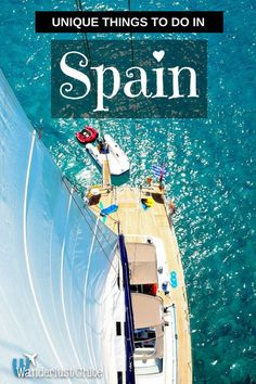 Unique Things To Do Spain. From sailing around the Balaeric Islands, to hiking one of the world's most scenic routes and a quirky festival you'll definitely need a bath after, it's time to reveal a few truly unique things to do in Spain! #Spain #Espana #travel #uniquetravel #sailing #latomatina