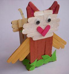 Simple steps to make Ice cream Stick Craft. #HowTo #kidscrafts #DIY