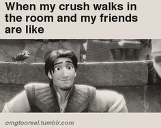Literally I saw my crush just the other day and I was with my best friend and she looked at me EXACTLY like this!!