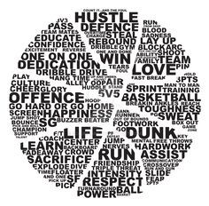 T-Shirt design for a competition I have entered! Words that make up basketball…