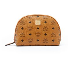 MCM Heritage Cosmetic Pouch ($390) ❤ liked on Polyvore featuring beauty products, beauty accessories, bags & cases and mcm