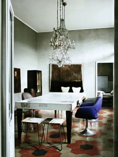 love the walls - table - decor - Elle Decoration February 2013 (UK)