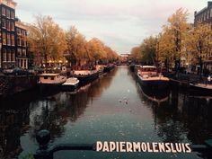 Sunny autumn morning in Amsterdam