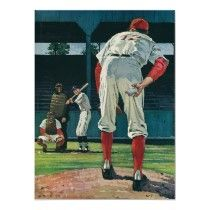 Vintage Baseball Players Poster by YesterdayCafe |Pinned from PinTo for iPad|