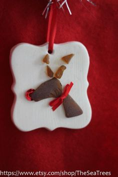 Sea Glass reindeer ornament by TheSeaTrees on Etsy, $8.00