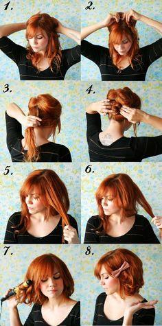 Como fazer seu cabelo longo parecer curto, sem precisar cortar.