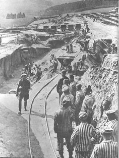 Mauthausen, Austria, Camp prisoners performing forced labor.