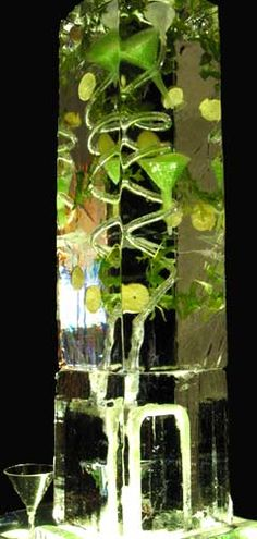 Gourmet Ice Luges from Brilliant Ice Sculpture Mojito