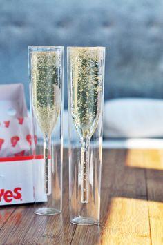 fun champagne flutes!