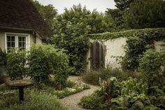 Ina Garten's barn garden