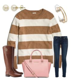 """""""J.  Crew Fall"""" by ctrygrl1999 ❤ liked on Polyvore featuring Lord & Taylor, J.Crew, rag & bone, Tory Burch and Michael Kors"""