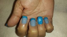 Grey and turquoise Gettintipsynails.com