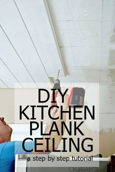 diy kitchen plank ceiling | ceilings, kitchens and plank ceiling