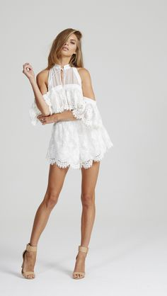 Alice McCall - Better Be Good To Me Playsuit Seashell