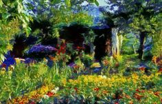 Garden in Die,France  DAP Monet